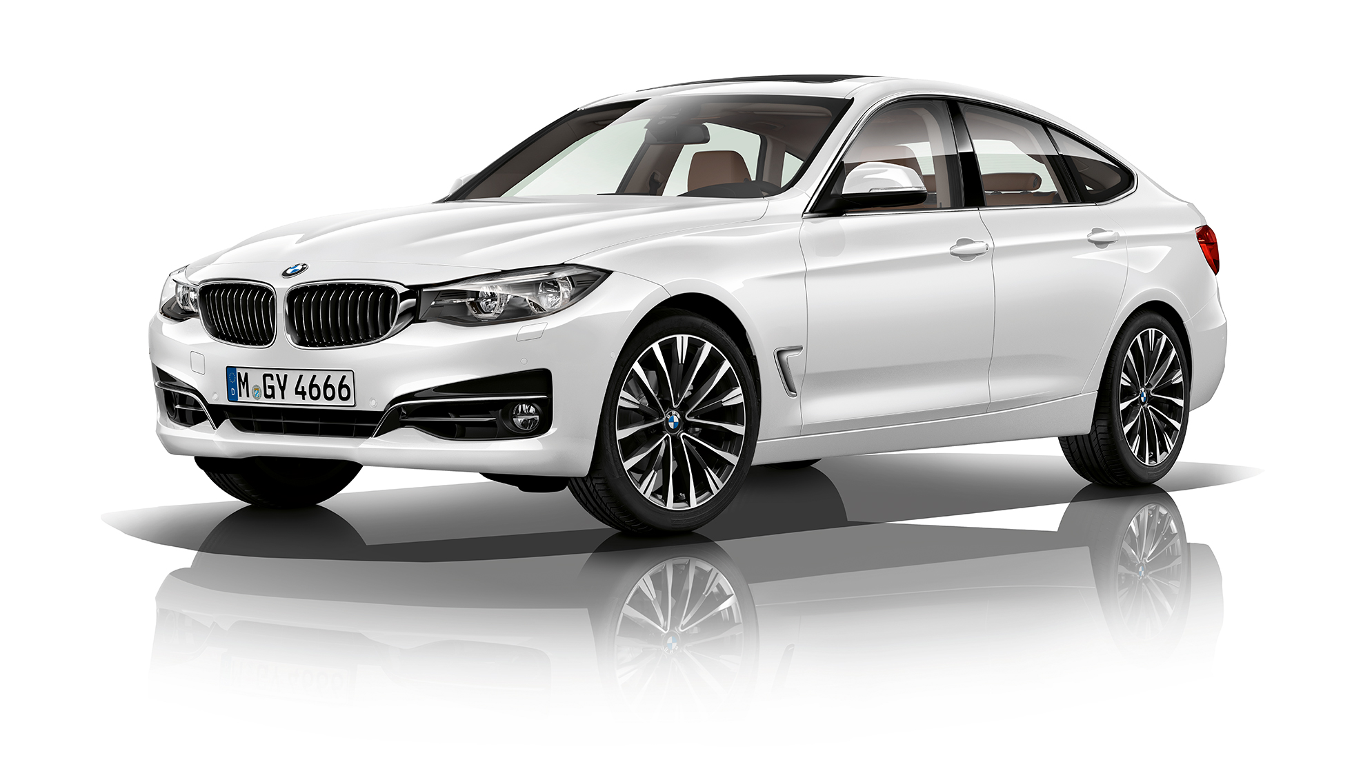 BMW 3 Series Gran Turismo, Model Luxury Line three-quarter front shot