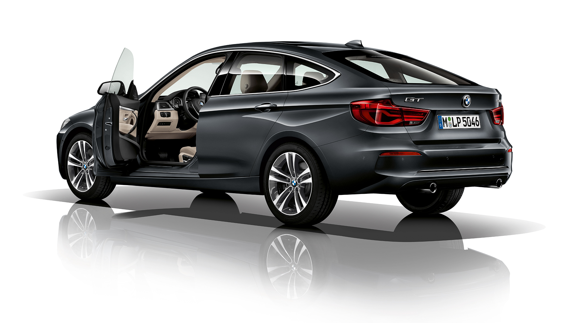 BMW 3 Series Gran Turismo, Model Sport Line three-quarter rear shot